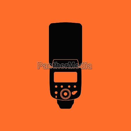icon of portable photo flash orange