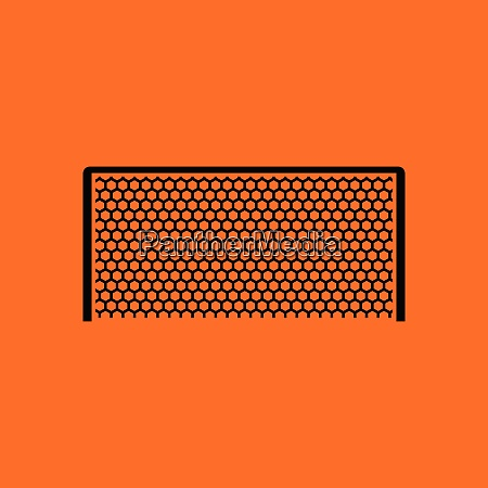 soccer gate icon orange background with