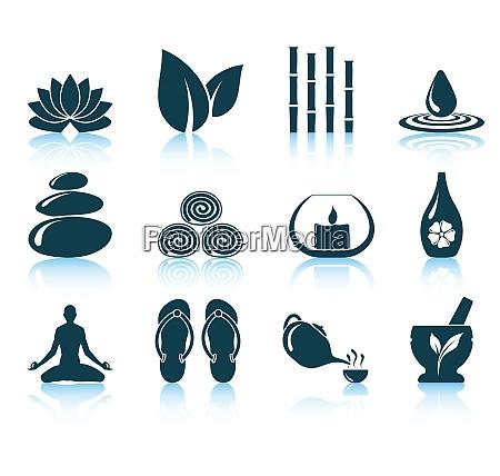 conjunto de icones de spa ilustracao