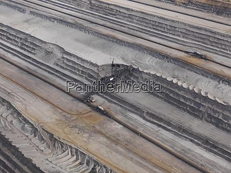 aerial view lignite mine gartzweiler north