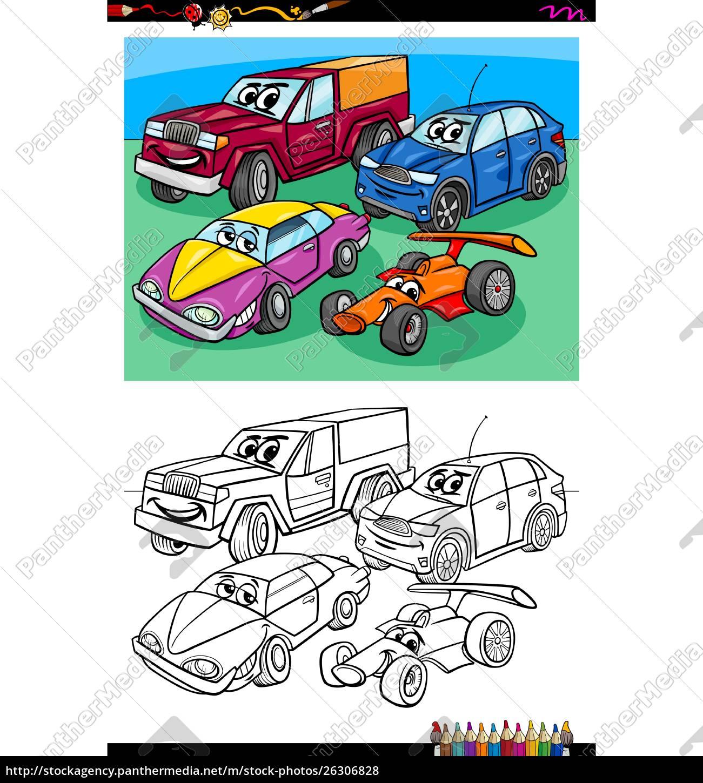 Carro Personagens Grupo Livro De Colorir Stockphoto 26306828