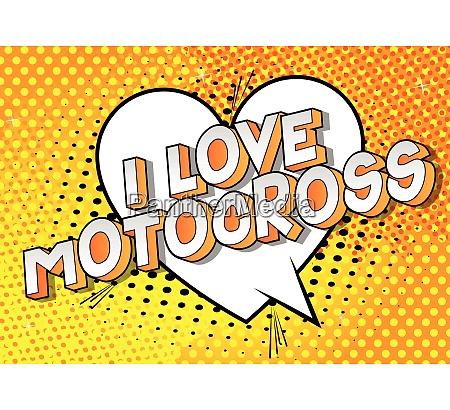 i love motocross comic book