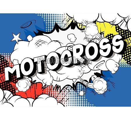 motocross comic book style words