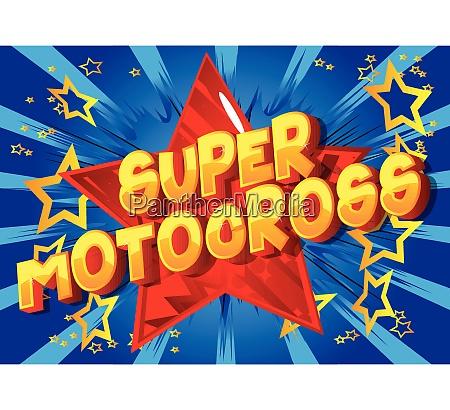 super motocross comic book style