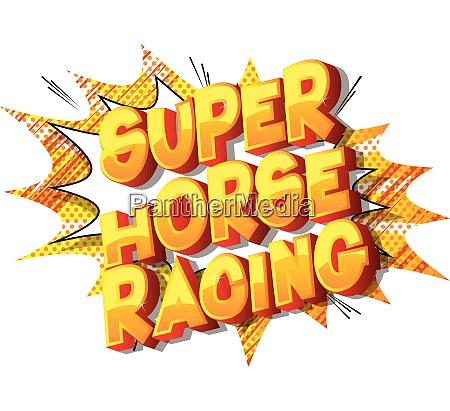 super horse racing comic book