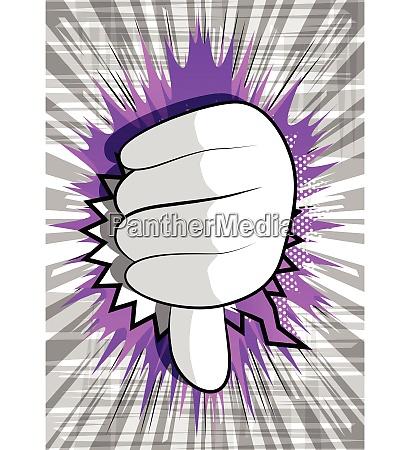 cartoon hand showing dislike