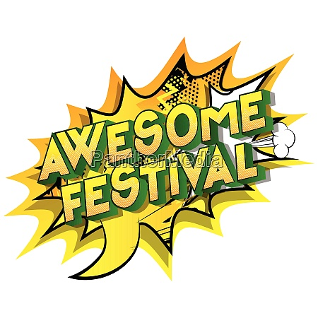 awesome festival comic book style