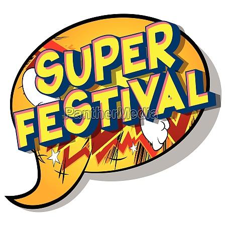 super, festival, -, comic, book, style - 26463849