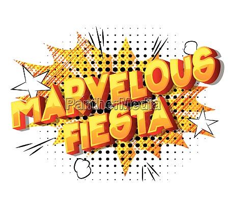 marvelous fiesta comic book style