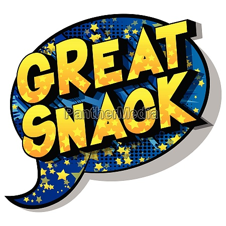 great snack comic book style