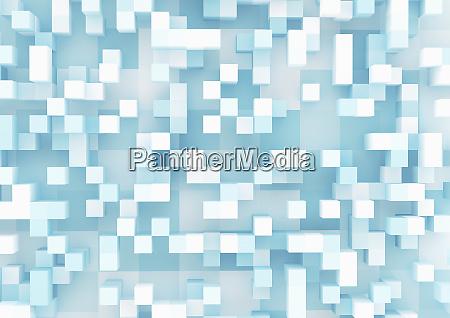 padrao de grade de cubos tridimensionais