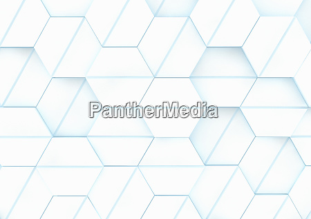 padrao de grade hexagono tridimensional