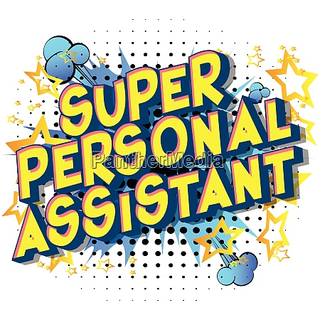 super personal assistant vector illustrated
