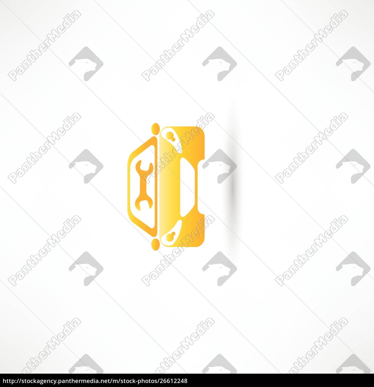 carro, dianteiro, amarelo - 26612248