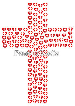 o amor vermelho coracao christian cruz