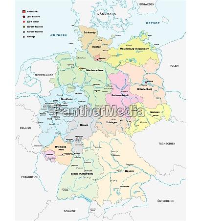 mapa alemanha cidades cem mil habitantes