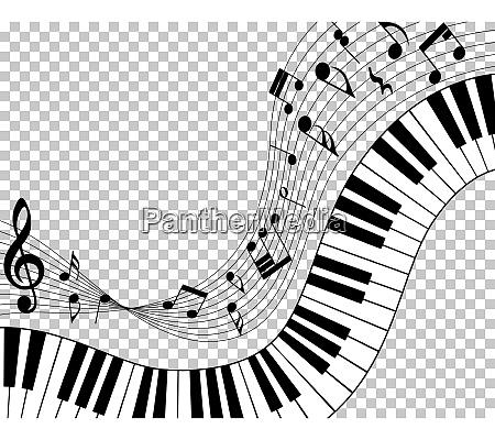 equipe de notas musicais
