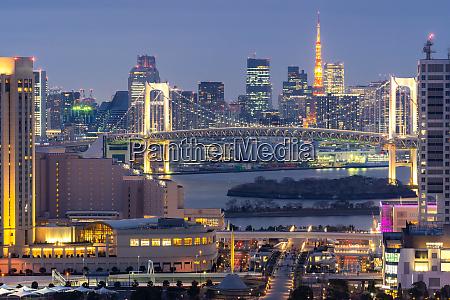 torre de toquio com por do