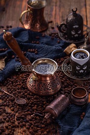 pote de cafe turco velho