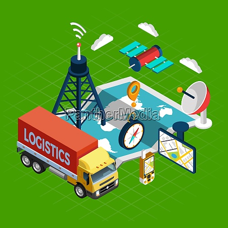 conceito, de, navegação, com, logística, e - 27145794