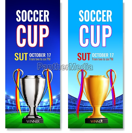 taca de futebol dois banners verticais