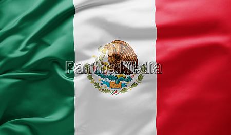 agitando bandeira nacional do mexico