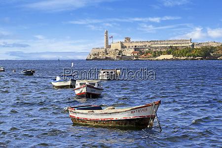cuba havana boats float in front