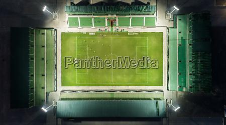 vista aerea do sevens stadium durante