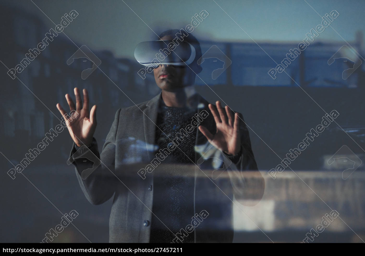 empresário, de, dupla, exposição, usando, óculos - 27457211