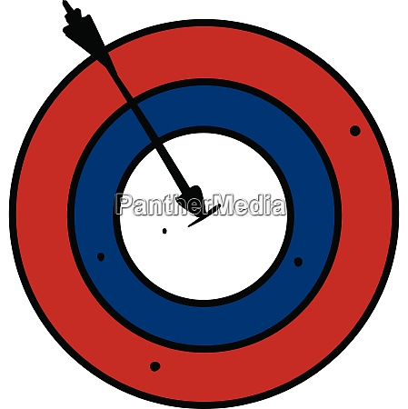 clipart vermelho azul branco colorido bullseye