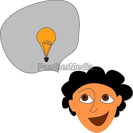 a boy that has an idea