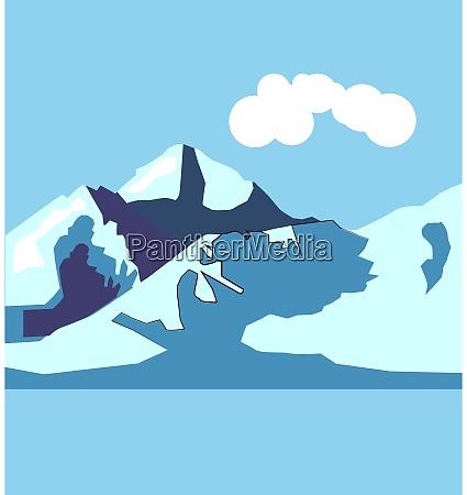 montanha ilustracao vetor no fundo branco