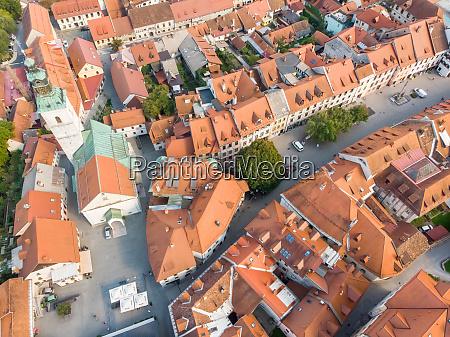 vista aerea do centro da cidade