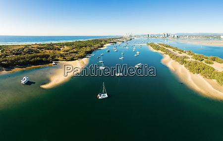 vista aerea panoramica de broadwater gold