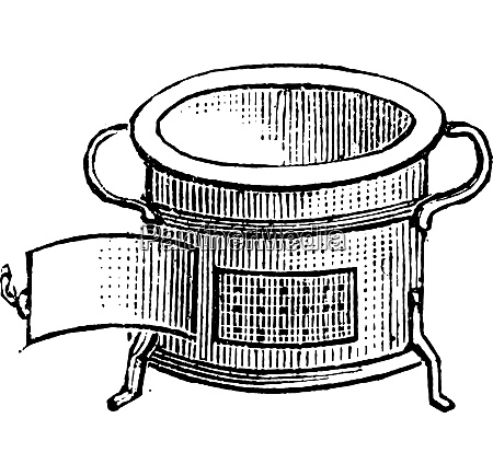 forno para o almoco gravura vintage