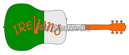 silhueta, de, violão, com, bandeira, nacional - 27628935