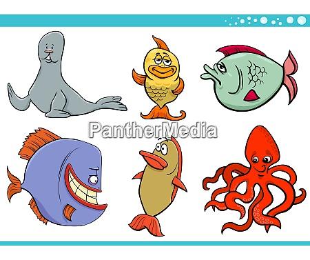 coleta de personagens de especies animais