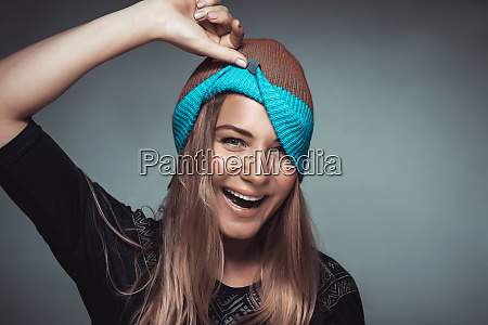 cheerful girl portrait