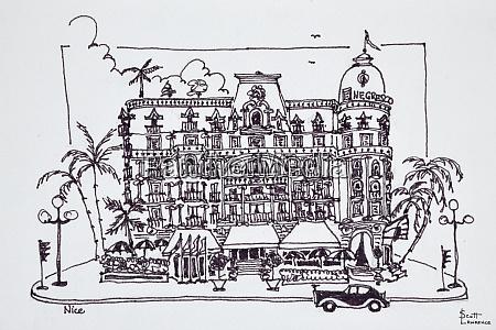 o hotel negresco localizado no passeio
