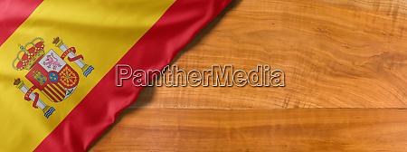 bandeira nacional da espanha em um