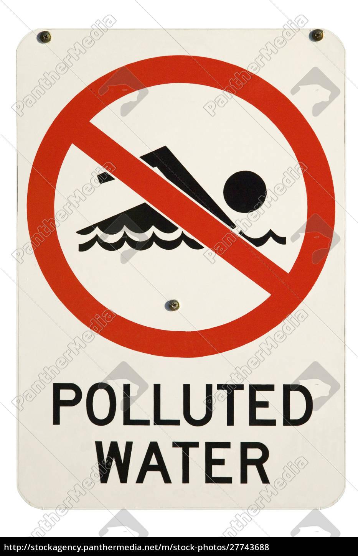 sinal, poluído, da, água, austrália - 27743688