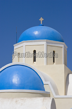 greece santorini thira oia blue greek