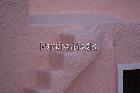 greece santorini thira oia pink stucco