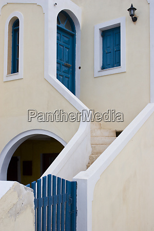 greece santorini thira oia staircase leading