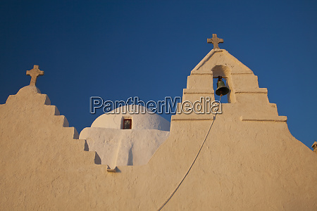 greece mykonos horia with oldest church