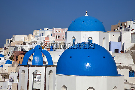 greece santorini bell tower and blue