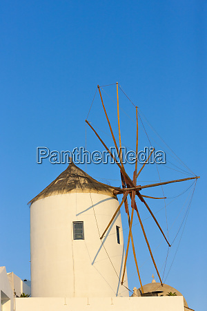 windmill on the coast of aegean