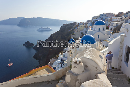 the village of oia santorini cyclades