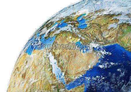 o globo terrestre e proximo da