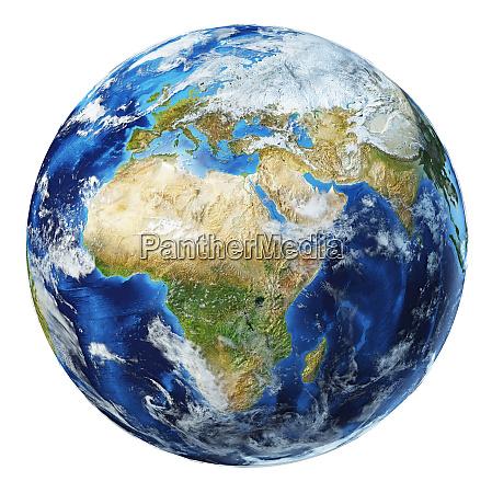 ilustração, 3d, do, globo, terrestre., vista - 27958549